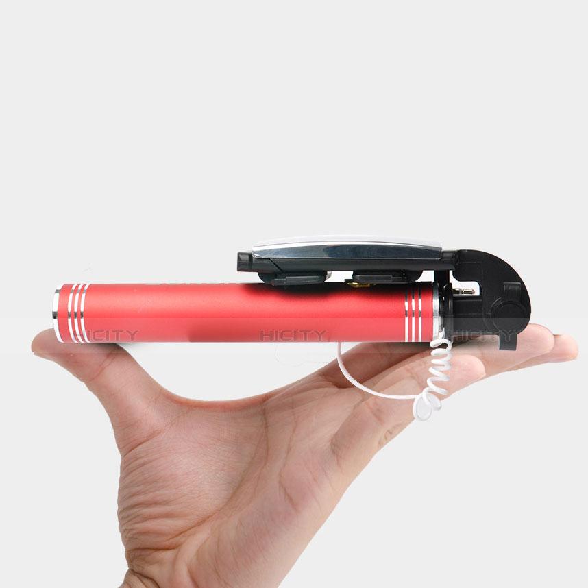 Palo Selfie Stick Extensible Conecta Mediante Cable Universal S20 Rojo