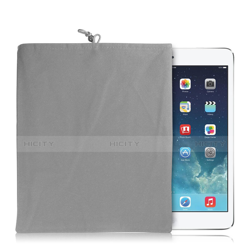 Suave Terciopelo Tela Bolsa Funda para Huawei MatePad 10.4 Gris