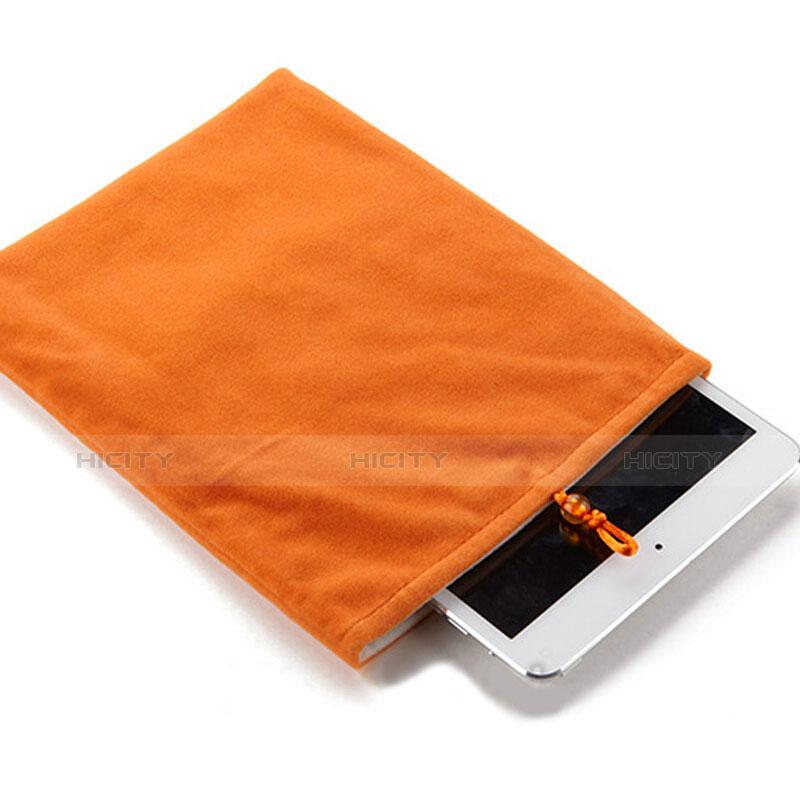 Suave Terciopelo Tela Bolsa Funda para Huawei MatePad 10.4 Naranja