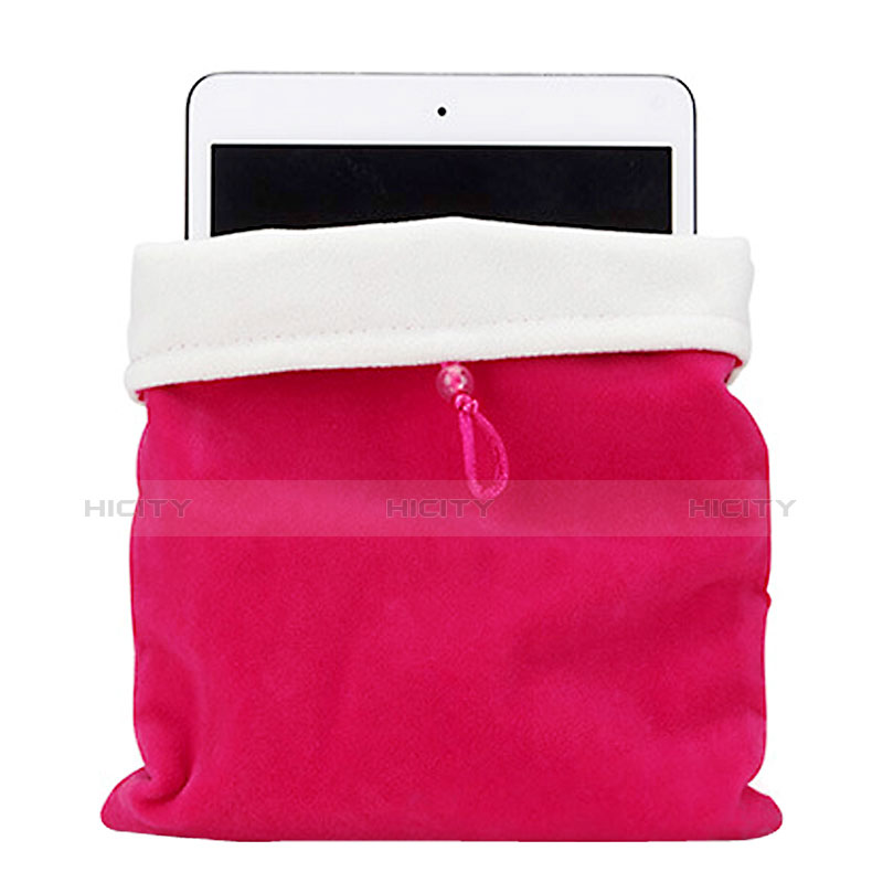 Suave Terciopelo Tela Bolsa Funda para Huawei MatePad 10.4 Rosa Roja