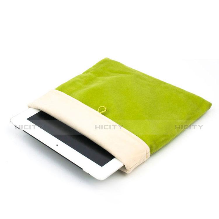 Suave Terciopelo Tela Bolsa Funda para Huawei MatePad 10.4 Verde