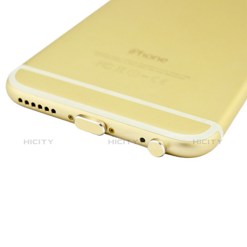 Tapon Antipolvo Lightning USB Jack J01 para Apple iPhone 11 Oro