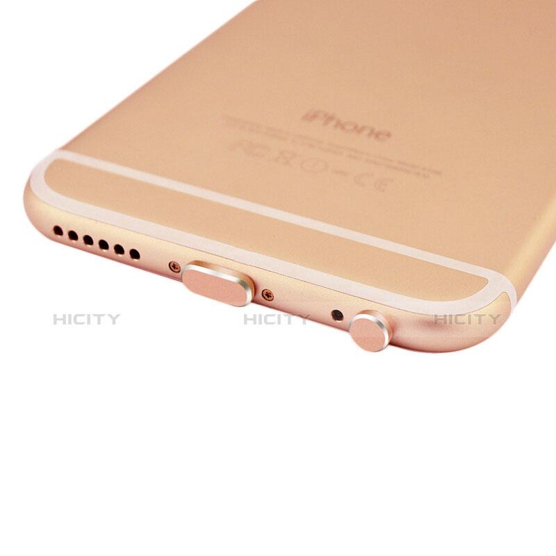 Tapon Antipolvo Lightning USB Jack J01 para Apple iPhone 11 Pro Oro Rosa