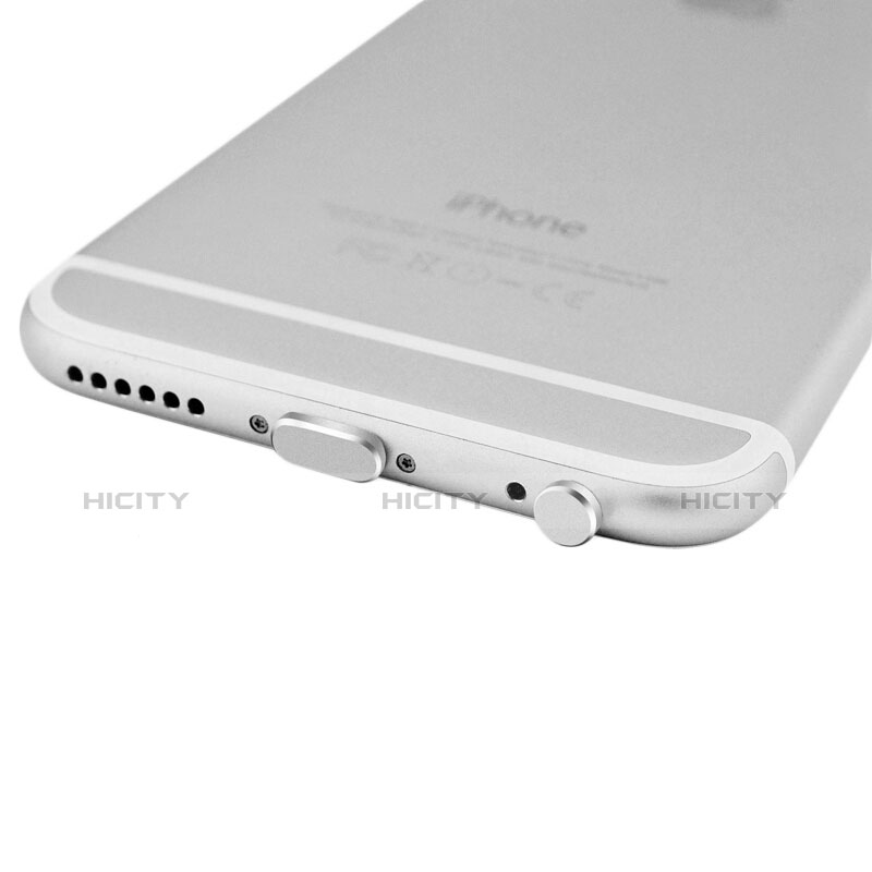 Tapon Antipolvo Lightning USB Jack J01 para Apple iPhone 11 Pro Plata
