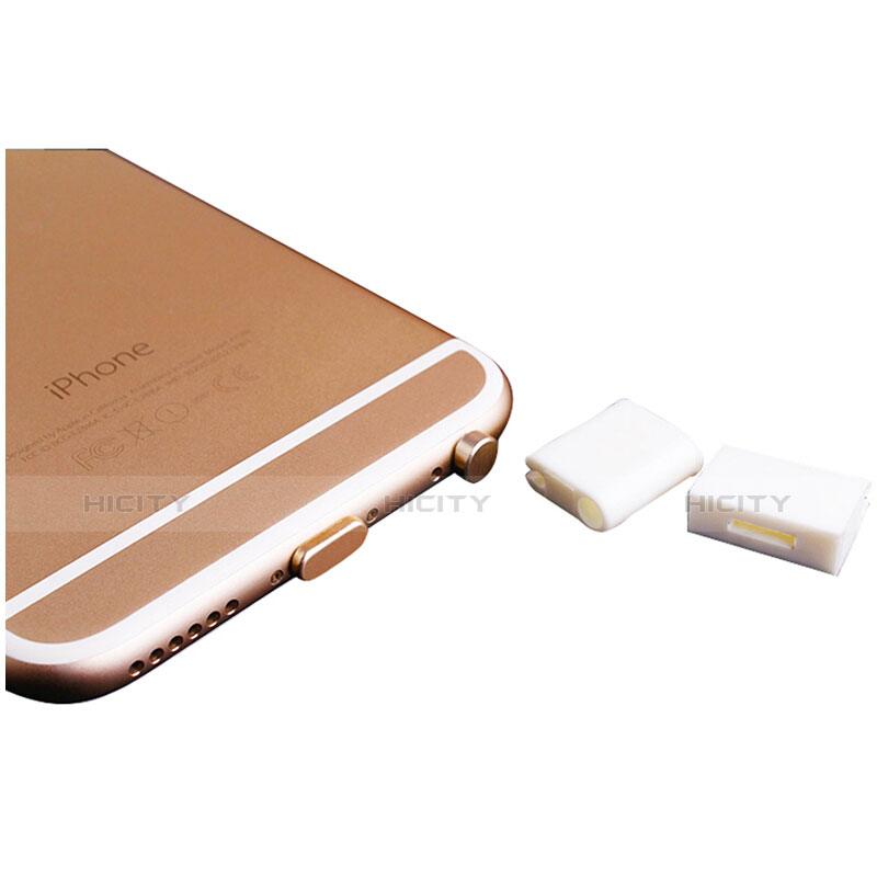 Tapon Antipolvo Lightning USB Jack J02 para Apple iPhone 11 Oro