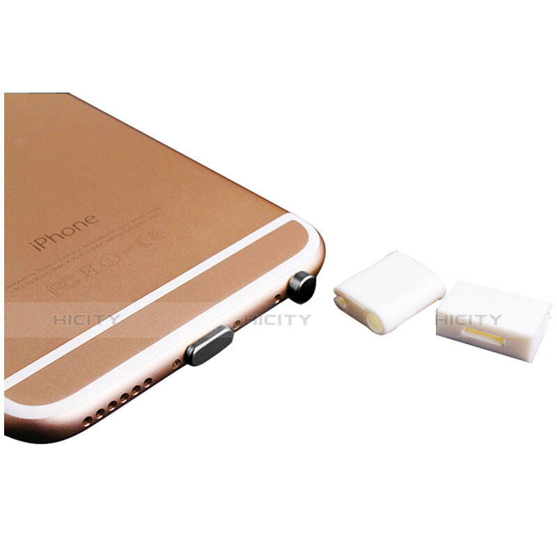 Tapon Antipolvo Lightning USB Jack J02 para Apple iPhone 11 Pro Negro