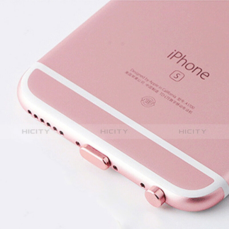 Tapon Antipolvo Lightning USB Jack J02 para Apple iPhone 11 Pro Oro Rosa
