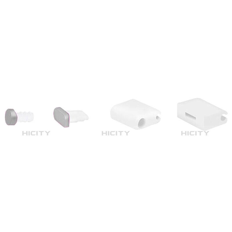 Tapon Antipolvo Lightning USB Jack J02 para Apple iPhone 11 Pro Plata