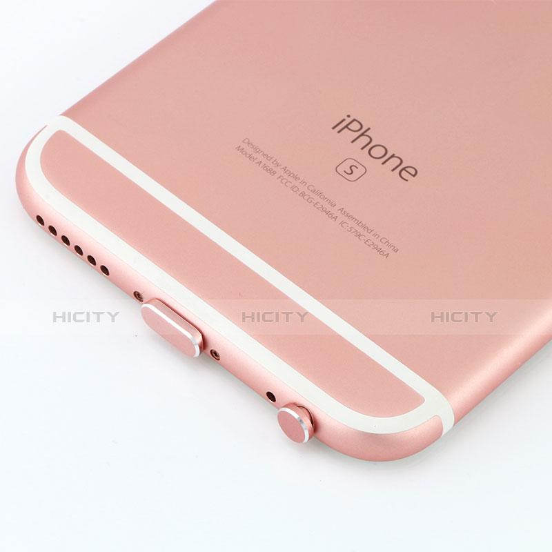 Tapon Antipolvo Lightning USB Jack J04 para Apple iPhone 11 Oro Rosa