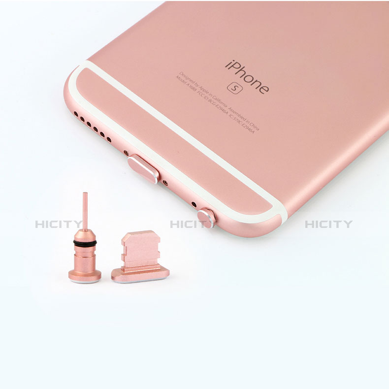 Tapon Antipolvo Lightning USB Jack J04 para Apple iPhone 11 Pro Oro