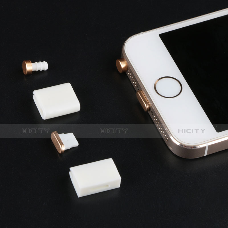 Tapon Antipolvo Lightning USB Jack J05 para Apple iPhone 11 Oro Rosa