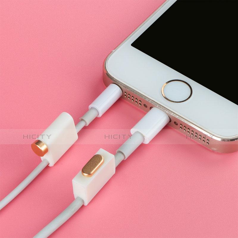 Tapon Antipolvo Lightning USB Jack J05 para Apple iPhone 11 Pro Oro Rosa