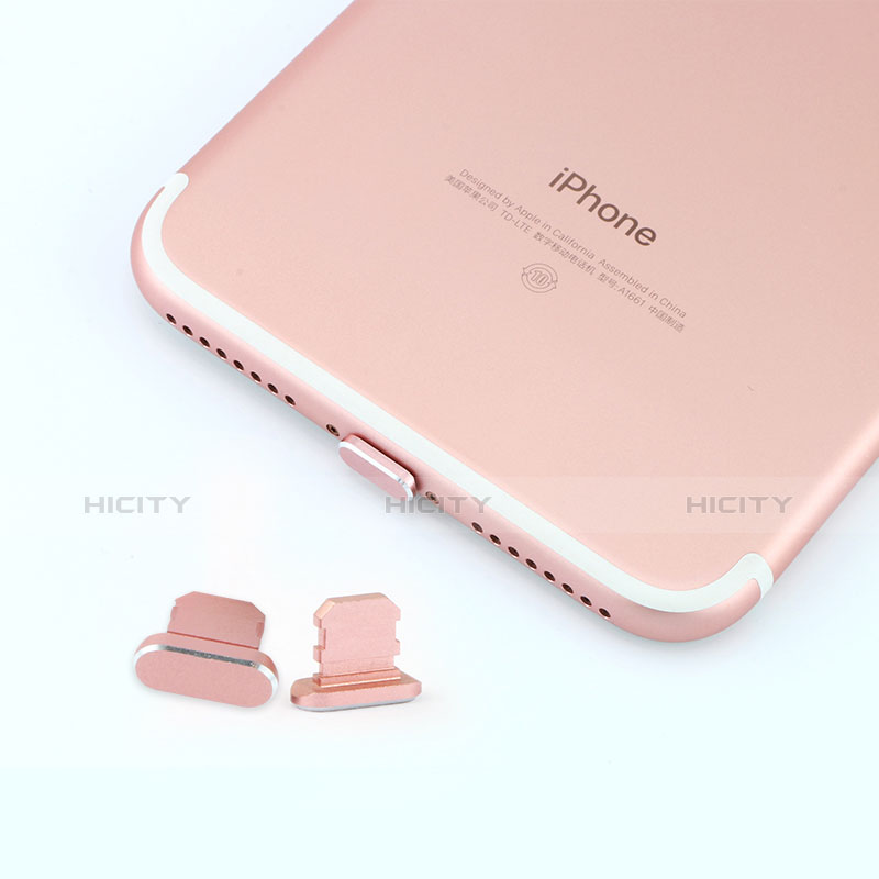 Tapon Antipolvo Lightning USB Jack J06 para Apple iPhone 11 Pro Oro Rosa