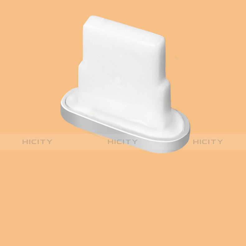 Tapon Antipolvo Lightning USB Jack J07 para Apple iPhone 11 Plata