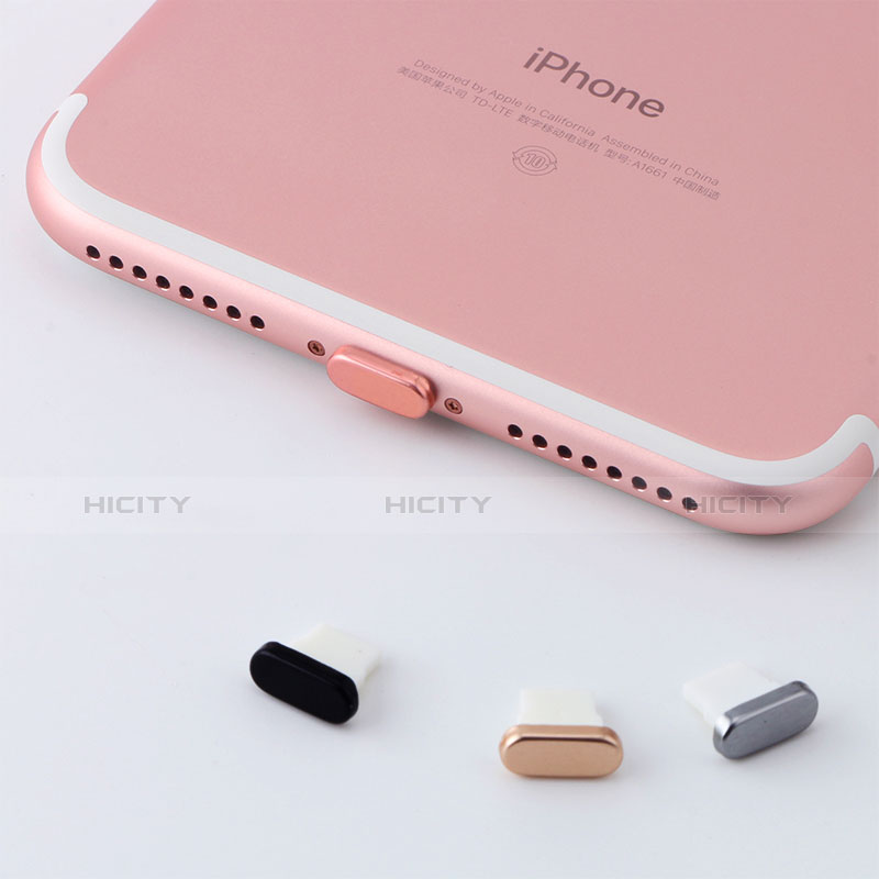 Tapon Antipolvo Lightning USB Jack J07 para Apple iPhone 11 Pro Oro Rosa